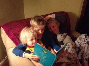 boys read all together