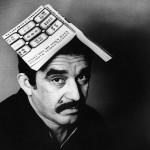 Gabriel Garcia Marquez with Book on Head