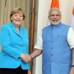 New Delhi: Prime Minister Narendra Modi with the German Chancellor Dr. Angela Merkel, at Hyderabad House, in New Delhi on Oct 5, 2015. (Photo: IANS/PIB)