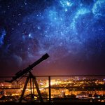 Silhouette of Telescope.